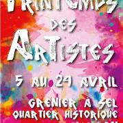 Affiche printemps des artistes avallon 2019